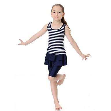 billige Badetøj til piger-Børn Pige Sport Stribet Uden ærmer Nylon Lycra Badetøj Lyserød