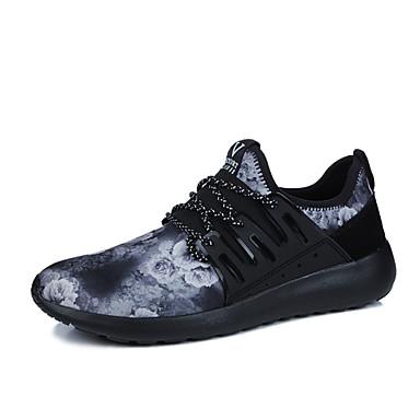 נעליים בד אביב קיץ נוחות נעלי ספורט ל קזו'אל בָּחוּץ שחור לבן שחור אדום