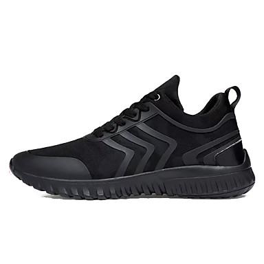 בגדי ריקוד גברים נעליים סינטתי אביב / סתיו נוחות נעלי אתלטיקה שחור / לבן וכחול