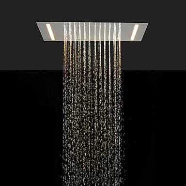 Stainless Steel 304 110V~220V Alternating Current Bathroom Rainfall Shower Head With Energy Saving LED Lamps