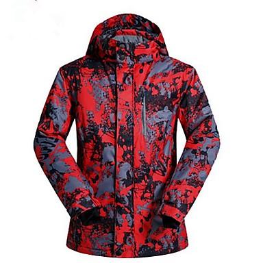 בגדי ריקוד גברים ג'קט לסקי חם, עמיד למים, שמור על חום הגוף מחנאות וטיולים / סקי / בטבע פוליאסטר ז'קטים לחורף ביגוד סקי