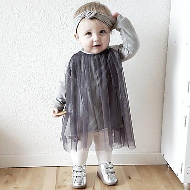 1db8bb4d516 Μωρό Κοριτσίστικα Απλός Καθημερινά Μονόχρωμο Κανονικό Βαμβάκι / Λινό / Ίνα  Μπαμπού Μαύρο / Νήπιο