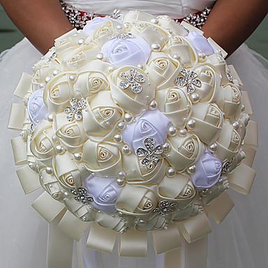 פרחי חתונה זרים חתונה שזירה קריסטל/אבן ריין מֶשִׁי 9.84