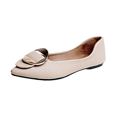 Damen Schuhe PU Sommer Komfort Sandalen Walking Niedriger Heel Offene Spitze Klett für Normal Weiß Schwarz Rosa