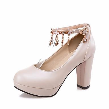 Bottier Rose Chaussures Femme Blanc à Talons Décontracté pour 06515948 Beige Talon Automne Polyuréthane Chaussures Noir Confort Printemps XwwzZ1q