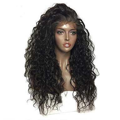 שיער אנושי חלק קדמי תחרה ללא דבק / חזית תחרה פאה שיער ברזיאלי Water Wave פאה עם שיער תינוקות 130% שיער טבעי / פאה אפרו-אמריקאית / בתולה100% קצר / בינוני / ארוך פיאות תחרה משיער אנושי / גל מים
