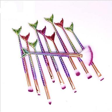 10pcs מברשות איפור מקצועי מברשת ניילון / שיער סינטטי ידידותי לסביבה / מקצועי / רך פלסטיק