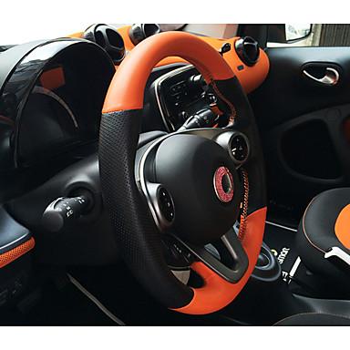 voordelige Auto-interieur accessoires-Auto-stuurhoezen aitoa nahkaa 38cm Wit / Zwart / Oranje Voor Smart Alle Modellen 2015 / 2016 / 2017