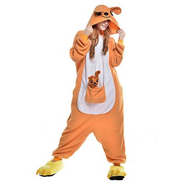 Kigurumi-pyjama Kenguru Pyjamahaalarit Asu Polar Fleece Synteettinen kuitu Oranssi Cosplay varten Aikuisten Animal Sleepwear Sarjakuva
