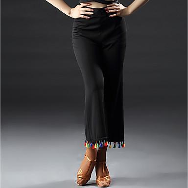 ריקוד לטיני חלקים תחתונים בגדי ריקוד נשים הצגה ספנדקס מפרק מפוצל טבעי מכנסיים
