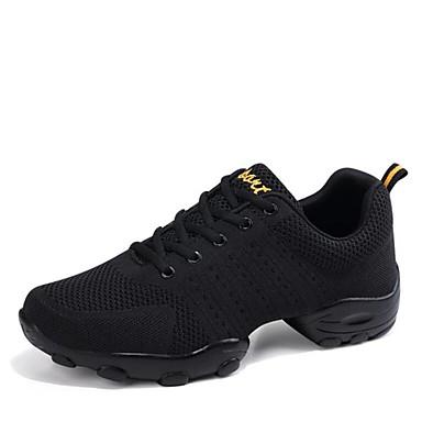 baratos Shall We® Sapatos de Dança-Homens Tricô Tênis de Dança Têni Salto Baixo Personalizável Branco / Preto / Profissional / EU43