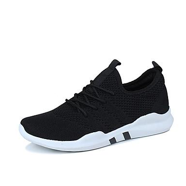 בגדי ריקוד גברים PU אביב / סתיו נוחות נעלי אתלטיקה לבן / שחור / אפור