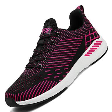 בגדי ריקוד נשים נעליים סריגה אביב / קיץ נוחות נעלי ספורט שטוח אפור / פוקסיה