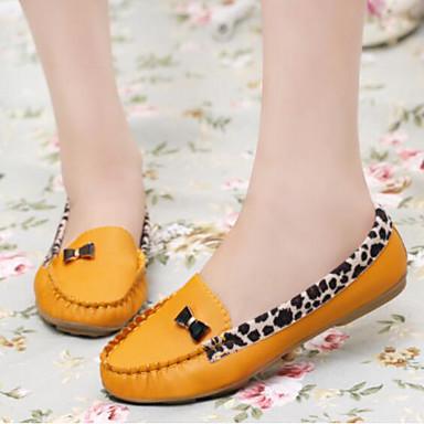 בגדי ריקוד נשים נעליים PU אביב / סתיו נוחות שטוחות שטוח בוהן סגורה צהוב / פוקסיה / כחול