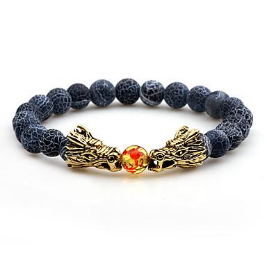 בגדי ריקוד גברים שוהם עין טייגר אבן וולקנית שרשרת וצמידים צמידים - אופנתי צמידים שחור / חום / כחול עבור יומי רשמי