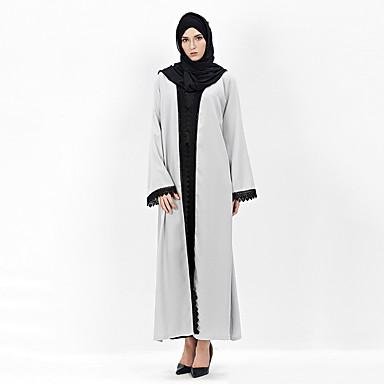 תחפושות מצריות השמלה הערבי בגדי ריקוד נשים פסטיבל / חג תחפושות ליל כל הקדושים אפור אחיד