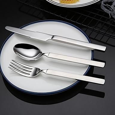 כלי אוכל 4pcs פלדת על חלד סט 18.6*4;18.6*2.8;22.2*2 cm