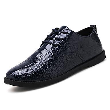 בגדי ריקוד גברים נעליים דמוי עור / PU אביב נוחות / נעליים פורמלית נעליים ללא שרוכים שחור / אדום / כחול / נעליים פורמליות