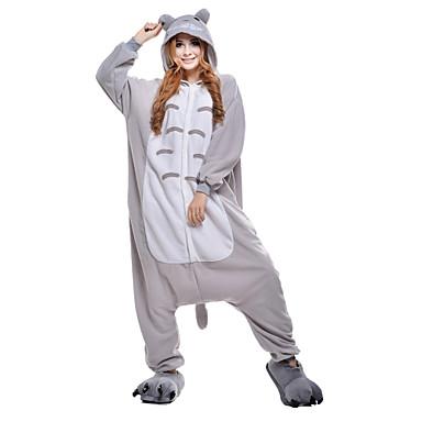 Kigurumi-pyjama Totoro / Kissa Pyjamahaalarit Asu Polar Fleece / Synteettinen kuitu Harmaa Cosplay varten Aikuisten Animal Sleepwear