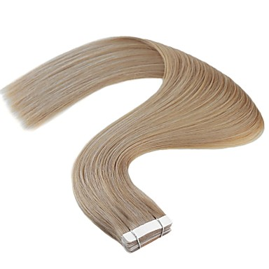 voordelige Extensions van echt haar-Neitsi Tape-in Extensions van echt haar Recht Mensen Remy Haar Braziliaans haar Naturel Blond 1pack Dames Blonde