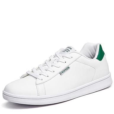 בגדי ריקוד גברים גומי אביב / סתיו נוחות נעלי ספורט לבן / שחור / לבן וירוק