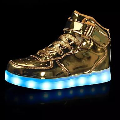 Hombre Iluminar los zapatos Tul Primavera / Otoño Zapatillas de deporte Antideslizante Oro / Plateado / Rojo