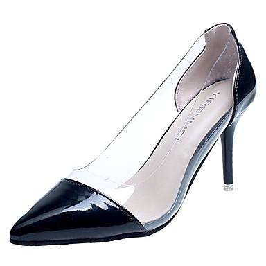 בגדי ריקוד נשים נעליים גומי אביב / סתיו נוחות עקבים עקב נמוך שחור / בז' / אדום
