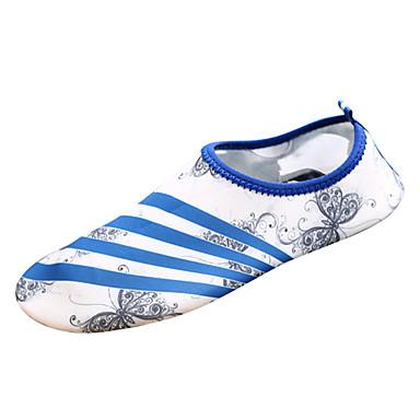 בגדי ריקוד נשים נעליים PU סתיו נוחות נעלי אתלטיקה שטח / הליכה שטוח בוהן עגולה ורוד ולבן / ירוק וכחול / כחול ים