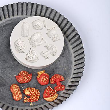 כלי Bakeware ג'ל סיליקה חג / יום הולדת / לשנה החדשה לממתקים עגול 1pc