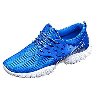 בגדי ריקוד גברים נעלי נוחות PU אביב / סתיו נעלי אתלטיקה שחור / אפור / כחול / ריצה