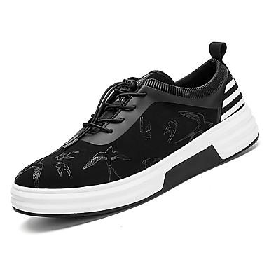 בגדי ריקוד גברים נעליים טול אביב / סתיו נוחות נעלי אתלטיקה הליכה שחור / שחור לבן