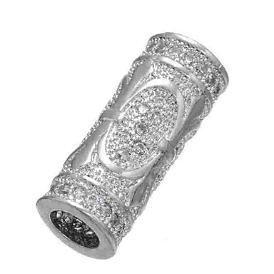 Gioielli Fai-da-te 1 Pezzi Perline Diamanti D'imitazione Lega Oro Argento Cilindro Perlina 0.5 Cm Fai Da Te Collana Bracciali #06525705 Elaborato Finemente