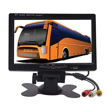 BYNCG 7M 848 x 480 רכב DVR 170 מעלות זווית רחבה CMOS 7 אִינְטשׁ צג TFT LCD דש קאם עם מצב חנייה לד 1 אינפרא אדום רכב מקליט