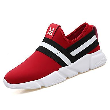 נעליים PU אביב סתיו נוחות נעלי ספורט ל בָּחוּץ שחור אדום