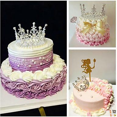 קישוטים לעוגה נושא אגדות / רומנטיקה / יומהולדת דברים נוצצים ורועשים סגסוגת חתונה / יום הולדת עם ריינסטון / מטאלי 1 pcs תיק מתנה