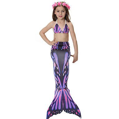 The Little Mermaid Hercegnő Hableány Tündérmese Bikini Fürdőruha Lány Mindszentek napja Farsang Gyermeknap Fesztivál / ünnepek