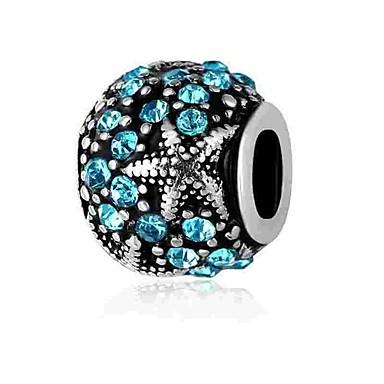 תכשיטים DIY 1 יח חרוזים יהלום מדומה סגסוגת לבן כחול עגול חָרוּז 0.2 cm עשה זאת בעצמך שרשראות צמידים