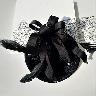 כותנה כובעים עם דמוי פנינה / עניבת פרפר 1pc חתונה / אירוע מיוחד כיסוי ראש