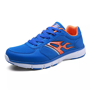 בגדי ריקוד גברים נעליים PU אביב / סתיו נוחות נעלי אתלטיקה ריצה אפור / אדום / כחול ים