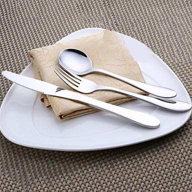 כלי אוכל 3pcs פלדת על חלד סט 18*4.4;22.5*1.9;18*1.7 cm