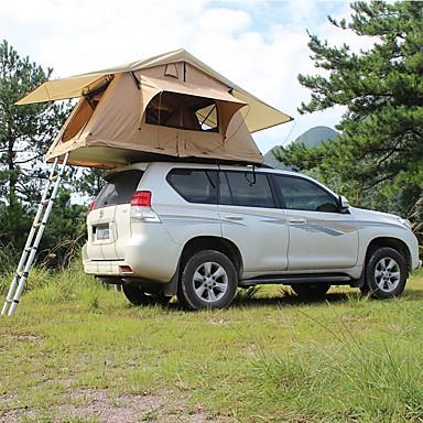 Deerke 4 איש אוהל-גג / משפחה אוהל קמפינג שכבה כפולה עמוד אוהל בקתה קמפינג אוהל שני חדרים חיצוני עמיד, מוגן מגשם, חיזוק חום ל מחנאות / צעידות / טיולי מערות / לטייל / פיקניק 2000-3000 mm בד אוקספורד, PU