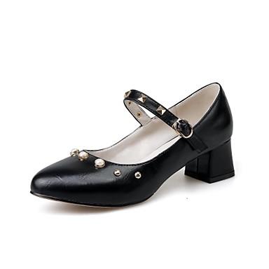 Bout Confort Talons pointu Femme Chaussures à 06580051 Noir Chaussures Vert Polyuréthane Boucle Amande Bottier Talon Eté Printemps wUqxIU0v
