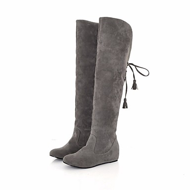 Damen Schuhe Nubukleder Kunstleder Herbst Winter Modische
