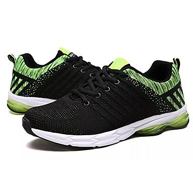 בגדי ריקוד גברים טול אביב / סתיו נוחות נעלי אתלטיקה הליכה שחור / כחול כהה / שחור / ירוק