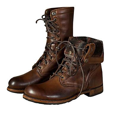 Fashion Boots PU סתיו / חורף מגפיים מגפונים\מגף קרסול / מגפיים באורך אמצע - חצי שוק חום / מסיבה וערב