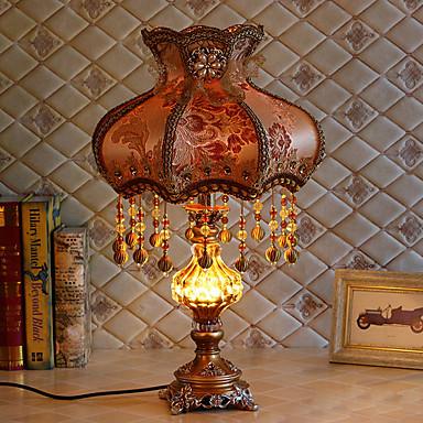 גביש / אומנותי דקורטיבי מנורת שולחן עבור חדר שינה / מסדרון שרף 220V כתום