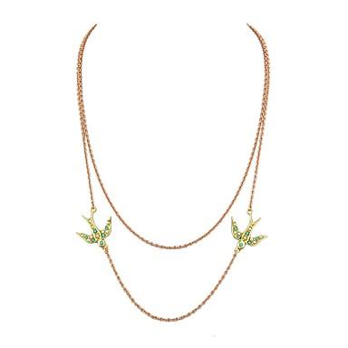 בגדי ריקוד נשים שרשראות Layered - בסיסי, אופנתי זהב שרשראות תכשיטים 2 עבור יומי, שנה חדשה