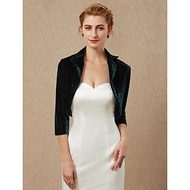 שרוול 4\3 קטיפה חתונה / מסיבה\אירוע ערב כיסויי גוף לנשים עם בולרו