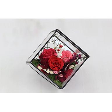 חתונה מצדדים ומתנות מפלגה - מתנות פרחוני פרחים מיובשים זכוכית רומנטיקה