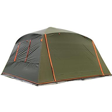 5-7 személy Sátor Egyszemélyes kemping sátor Külső Összecsukható sátor Vízálló Szélbiztos Tartós Napvédő Fényvédő mert Kempingezés és